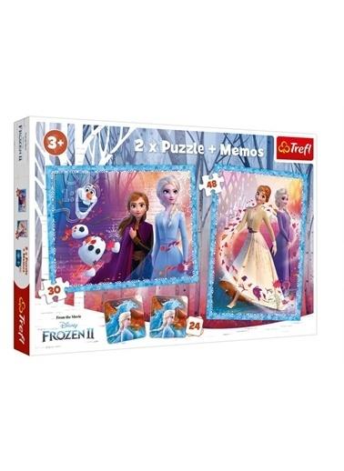 Educa Trefl Disney Frozen II - 2'li 30+48 Parça Yapboz ve 1 Memory Hafıza Çocuk Oyunu Set Renkli